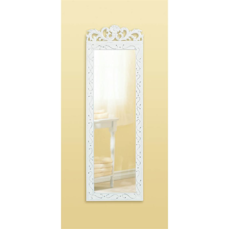 Zingz and Thingz Elegant Wall Mirror in White by Zingz & Thingz