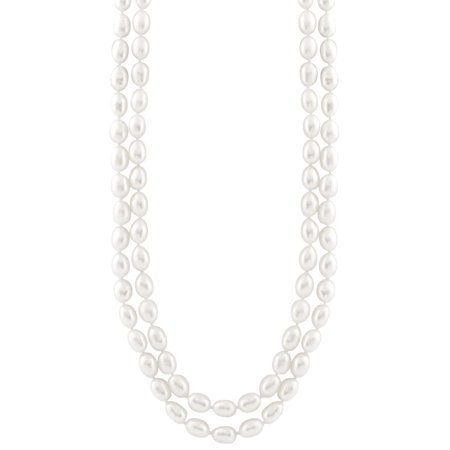 Handpicked A Quality 7-8mm White Freshwater Cultured Pearl Strand Endless 48