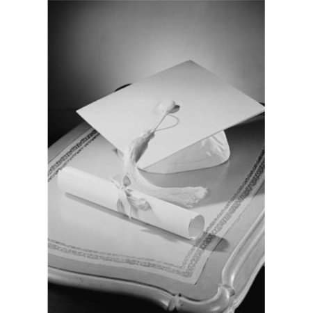 Posterazzi SAL255421411C Graduation Diploma & Mortar Board on Bedside Table Poster Print - 18 x 24 in.