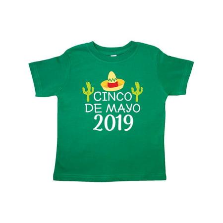Cinco De Mayo 2019 Celebration Toddler T-Shirt (Happy Cinco De Mayo Birthday)