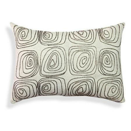 A1 Home Cotton Flex Spiral Embroidered Throw Pillow