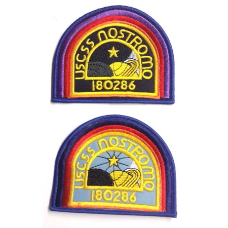 751a4e45d USSC Nostromo- ALIEN Movie Embroidered Patch Set of 2Screen accurate  version By Thinking Cap Co - Walmart.com