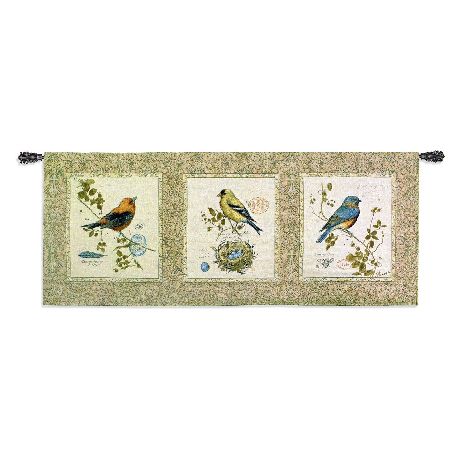 Fine Art Tapestries Songbirds Wall Tapestry by Supplier Generic