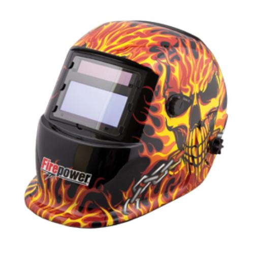 Firepower 1441-0088 Auto-darkening Welding Helmet - Fire And Skull