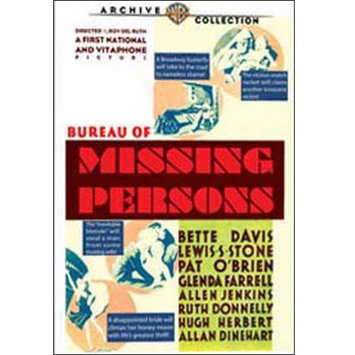 Bureau Of Missing Persons DVD Movie 1933