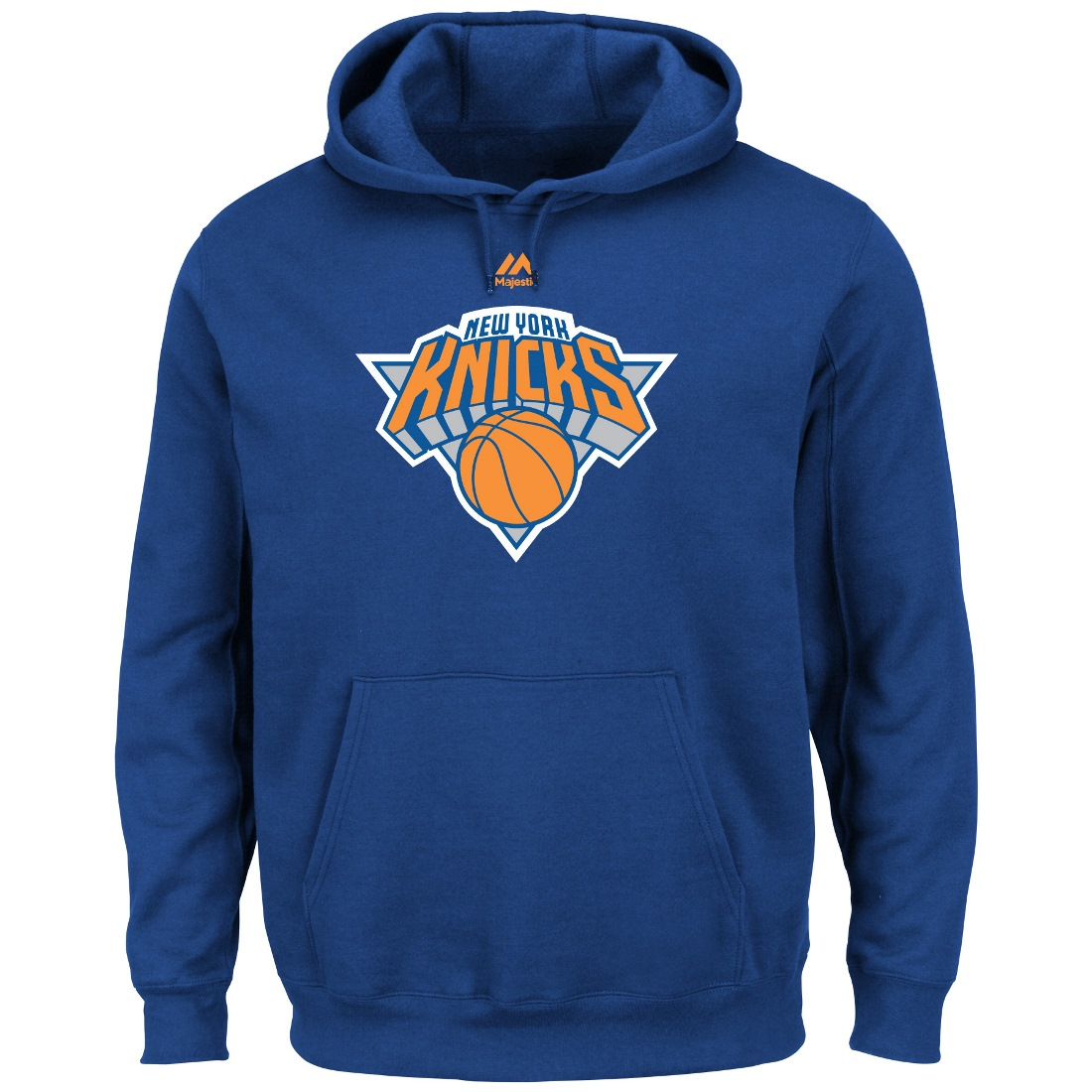 "New York Knicks Majestic NBA ""Supreme Logo"" Men's Pullover Hooded Sweatshirt"