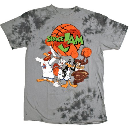 Space Jam Men's Tune Squad Team Short sleeve T-Shirt, Tye Dye (Best Space Jam Juice)