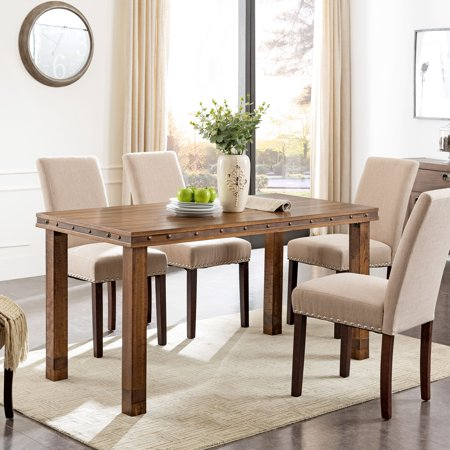 Righon Rustic Dining Table Modern Farmhouse Brown