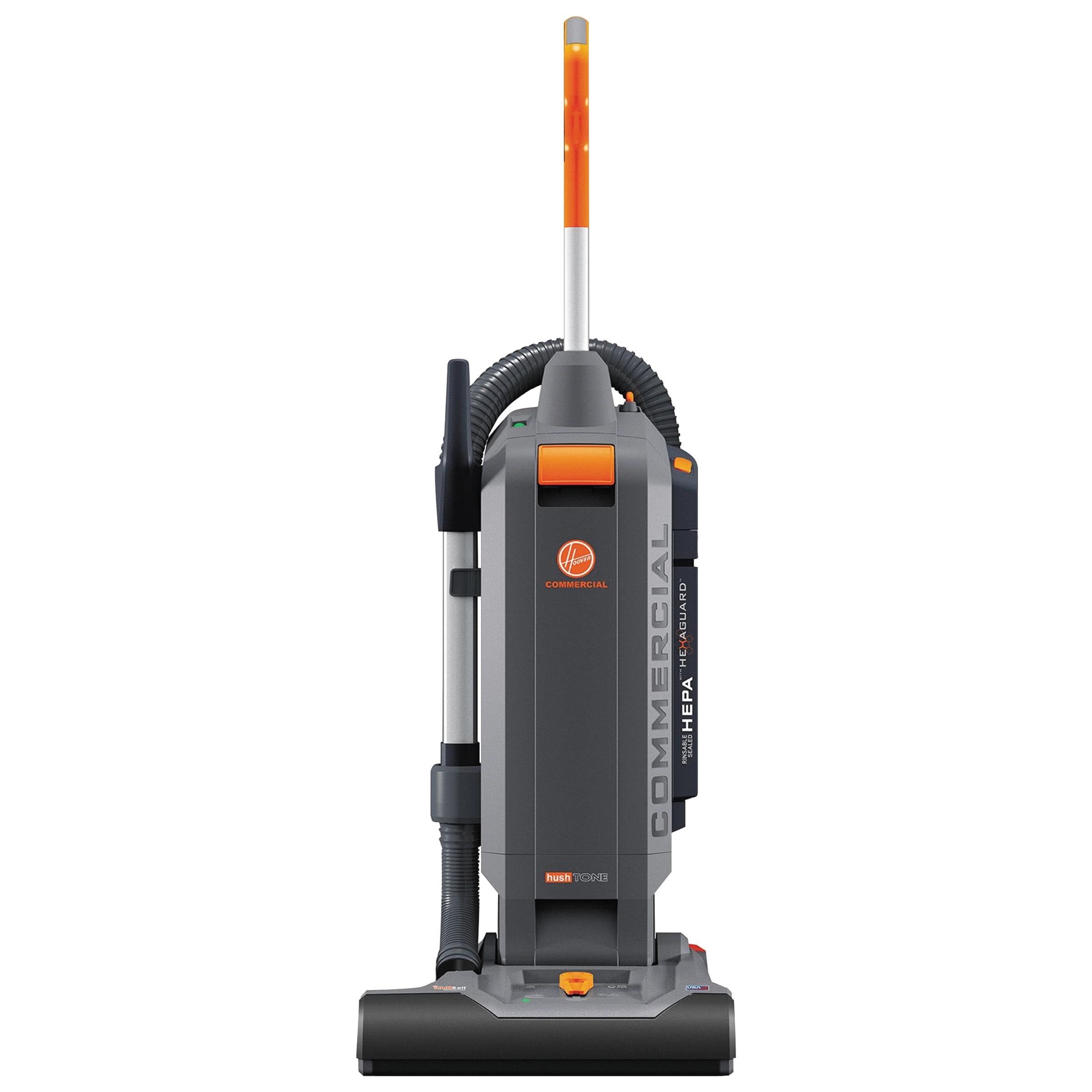 "Hoover Commercial HushTone Vacuum Cleaner with Intellibelt, 15"", Orange/Gray -HVRCH54115"