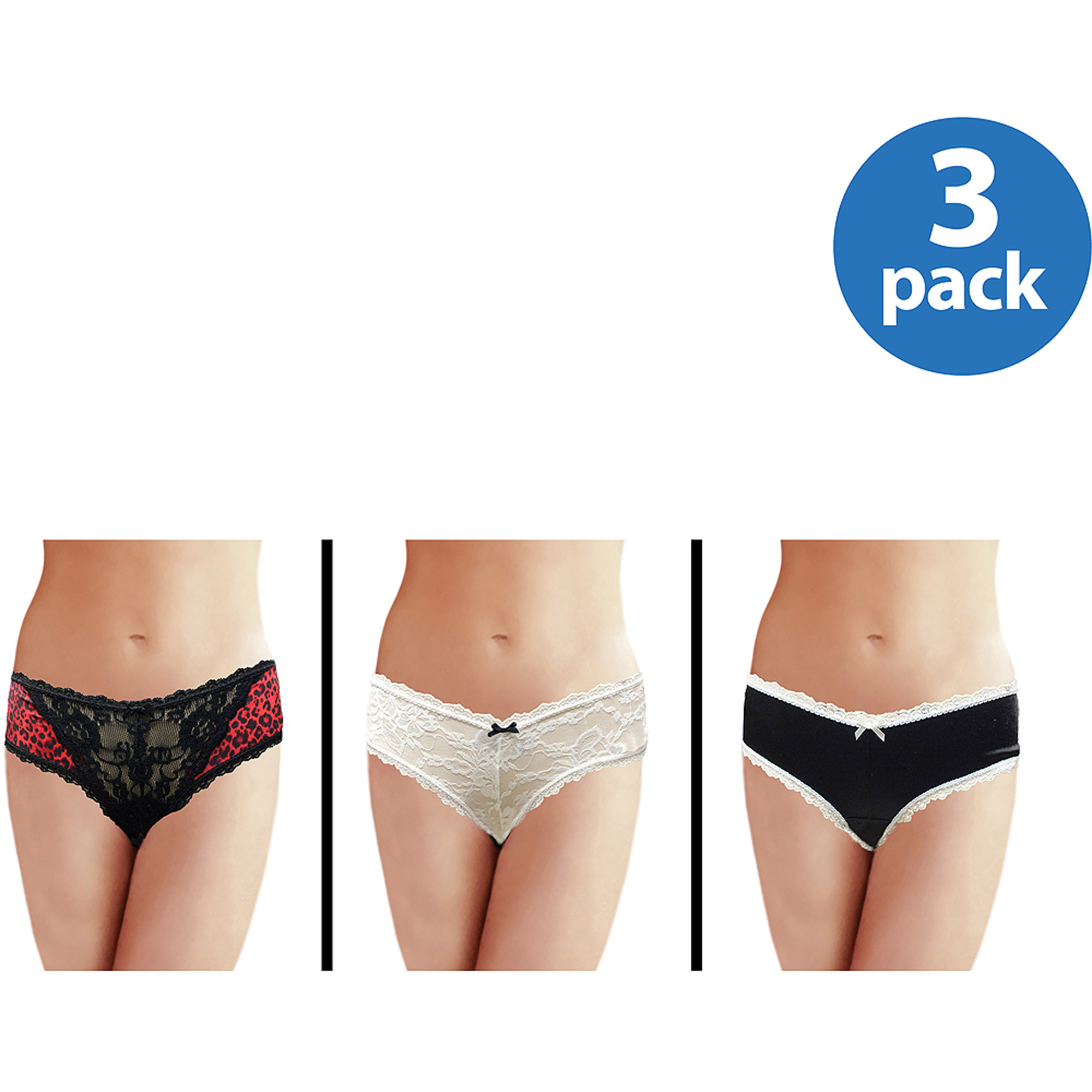 Smart & Sexy Women's Retro V-Kinis, 3-Pack
