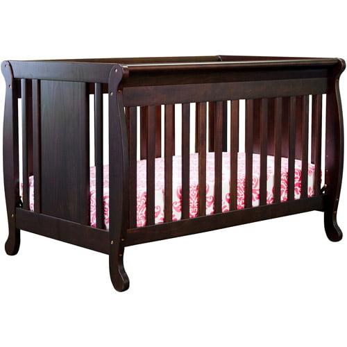Baby Mod Dakota 4-in-1 Fixed-Side Convertible Crib, Espresso