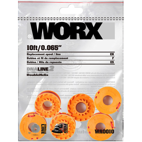WORX DNA2 6-Pack Grass Trimmer Line for Cordless Series WG150s, 151s, 152, 155s, 160, 165, 166, 167 and 175