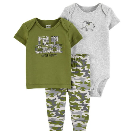 Short Sleeve T-Shirt, Bodysuit, and Pants, 3 Piece Outfit Set (Baby Boys) (Dying Light Outfit)