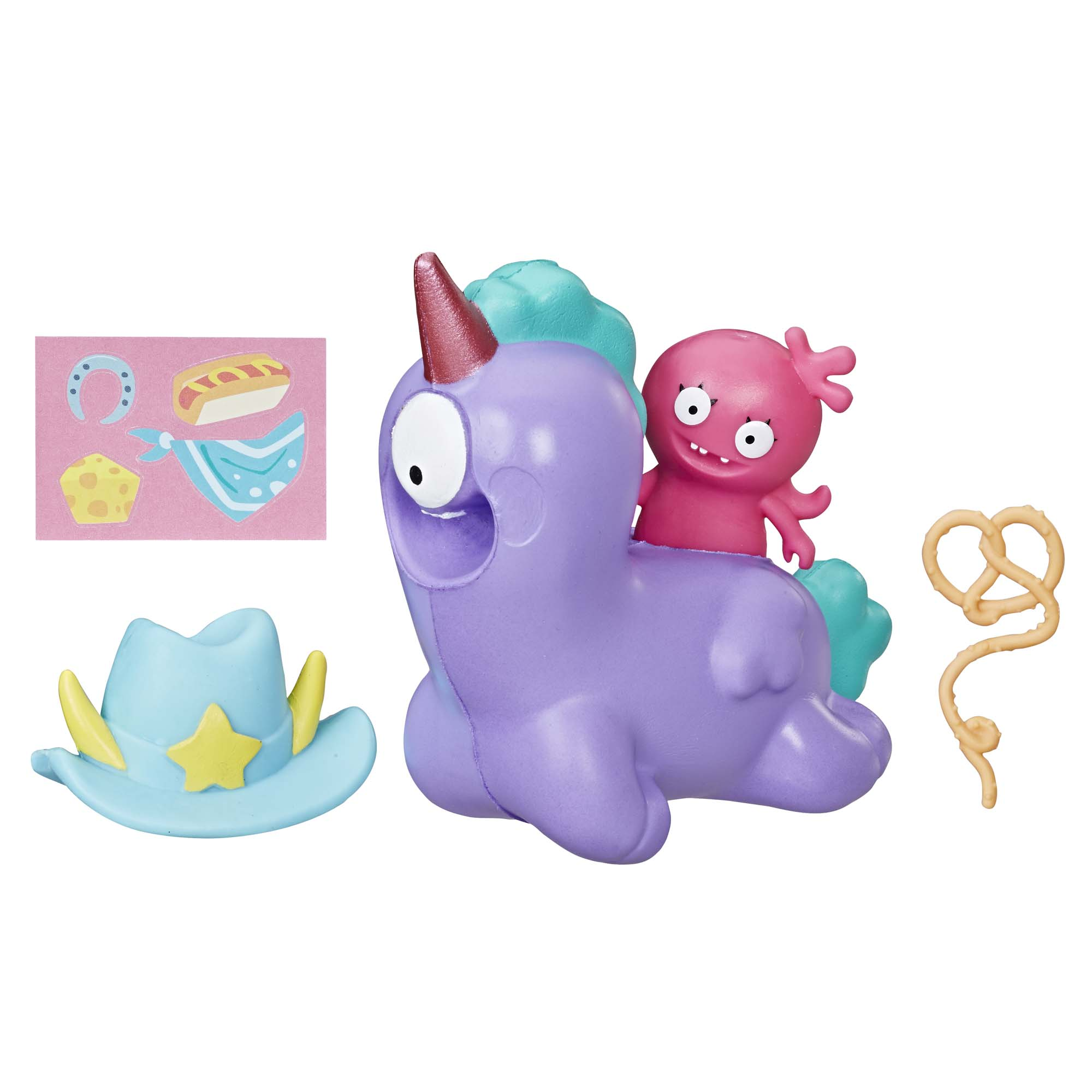 UglyDolls Moxy and Squish-and-Go Peggy, 2 Toy Figures with Accessories