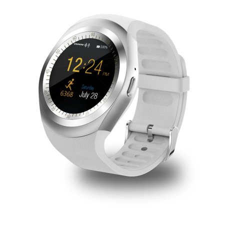 Y1 Waterproof Bluetooth Smart Watch for Men and Women Android Smartwatch Watch Phone Call GSM Sim ()