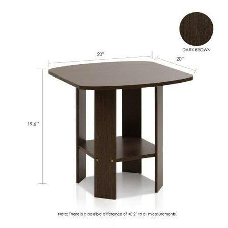 Furinno 2-11180DBR Simple Design End Table, Set of Two, Dark Brown - image 1 of 1