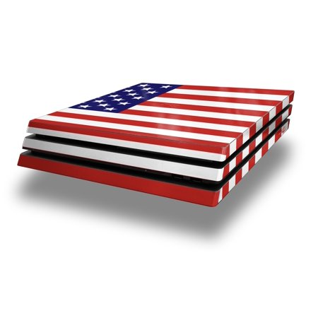 Wraptorskinz Ps4 Pro Skin Wrap Usa American Flag 01   Decal Style Skin Fits Sony Playstation 4 Pro Console