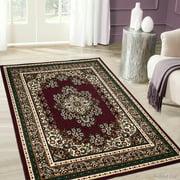 "Allstar Burgundy Woven High Quality Rug. Traditional. Persian. Flower. Western. Design Area Rug (5' 2"" x 7' 1"")"
