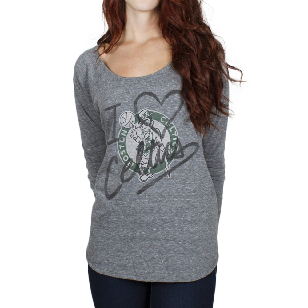 Boston Celtics - Time-Out Tri-Blend Juniors Long Sleeve Slouch