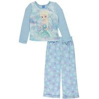 "Disney Frozen Big Girls' ""Snowflake Core"" 2-Piece Pajamas (Sizes 7 - 16)"