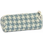 Bluefig Pearl District Zippered Accessories Case-Sabrina - Blue Houndstooth