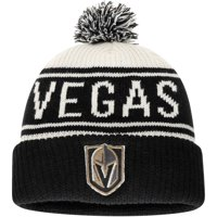 Vegas Golden Knights Fanatics Branded True Classic Z Route Cuffed Knit Hat with Pom - White - OSFA