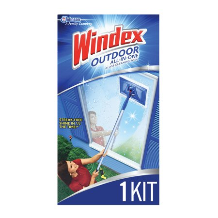 - Windex Outdoor All-In-One Glass Cleaning Tool Starter Kit, 1 ct