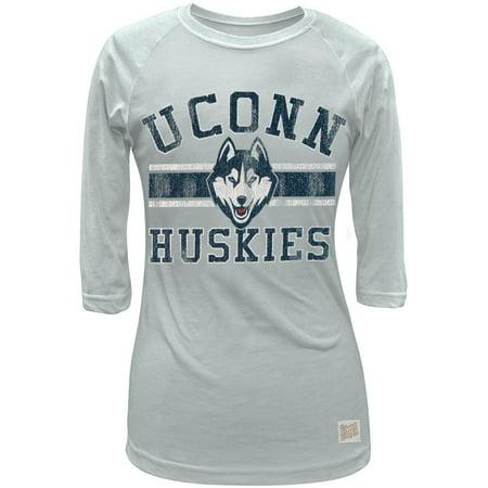 Uconn Huskies Women Basketball (UConn Huskies - Husky Band Logo Juniors 3/4 Sleeve Raglan)