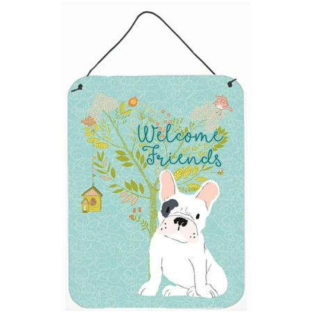 Carolines Treasures BB7634DS1216 Welcome Friends Piebald French Bulldog Wall or Door Hanging Prints - image 1 de 1