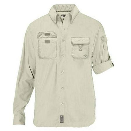 Men's Polaris Targhee Long Sleeve Fisherman Shirt - Khaki - - Fisher Man