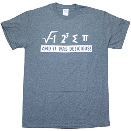 I Ate Some Pie Funny And It Was Delicious Pi Math Funny Mens T-Shirt Dark Heather Grey (2XL) ()