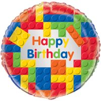 Foil Building Blocks Balloon, 18in
