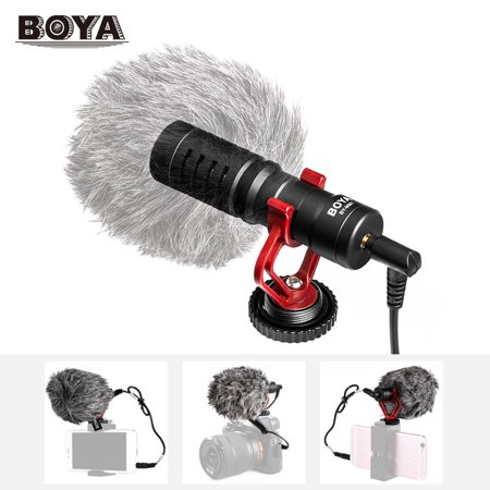 BOYA BY-MM1 Mini Cardioid Microphone Metal Electret Condensor Video Mic 3.5mm Plug for iPhone 6/ 6plus for Samsung Huawei Smartphone Tablet PC for Canon Nikon Sony DSLR Camera