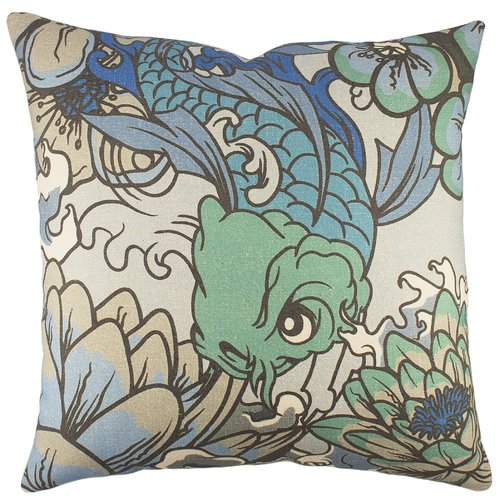 TheWatsonShop Koi Cotton Throw Pillow