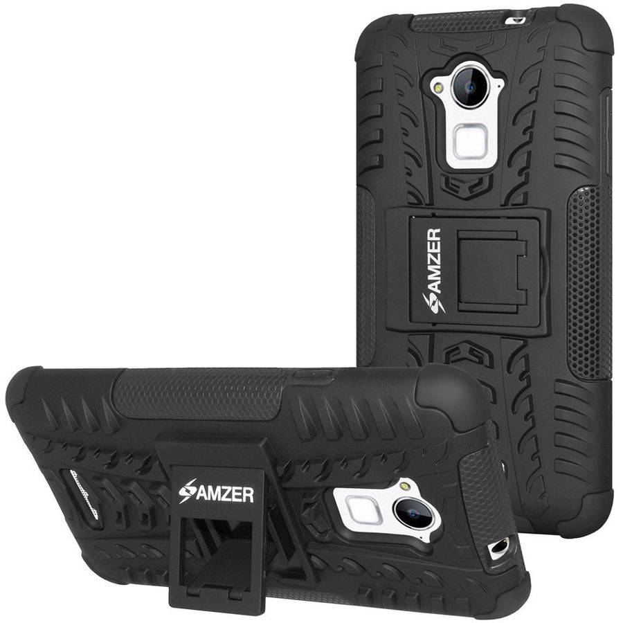 Amzer Impact-Resistant Hybrid Warrior Case for Coolpad Dazen Note 3, Black