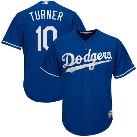 Justin Turner Los Angeles Dodgers Majestic Fashion Official Cool Base Player Replica Jersey - Royal