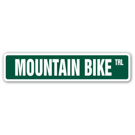 MOUNTAIN BIKE Street Sign biking off road rough terrain | Indoor/Outdoor | 24