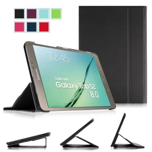 Fintie Samsung Galaxy Tab S2 8.0 Tablet Smart Book Case - Multi Angle Slim Stand Cover w/ Auto Sleep/Wake, Black