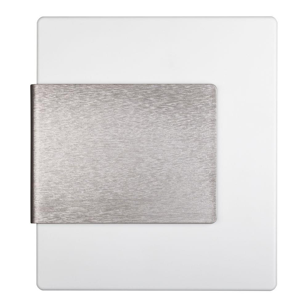 Hampton Bay Wireless or Wired Door Bell, White with Brushed Nickel Accent  <i>(Store Return)</i> - Walmart.com