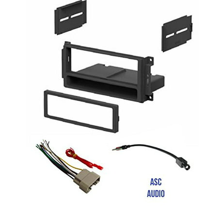 Asc Audio Car Stereo Radio Install Dash Kit  Wire Harness  And Antenna Adapter To Add A Single Din Radio For Some 2007 2016 Chrysler Dodge Jeep  Vehicles Listed Below