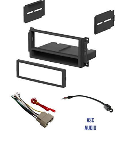 ECOTRIC Radio Double Din Stereo Dash Kit W//Wire Harness Antenna Adapter for 2002-2005 Dodge RAM 1500 2500 3500 Black