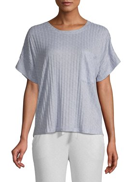Ribed Short Sleeve Top