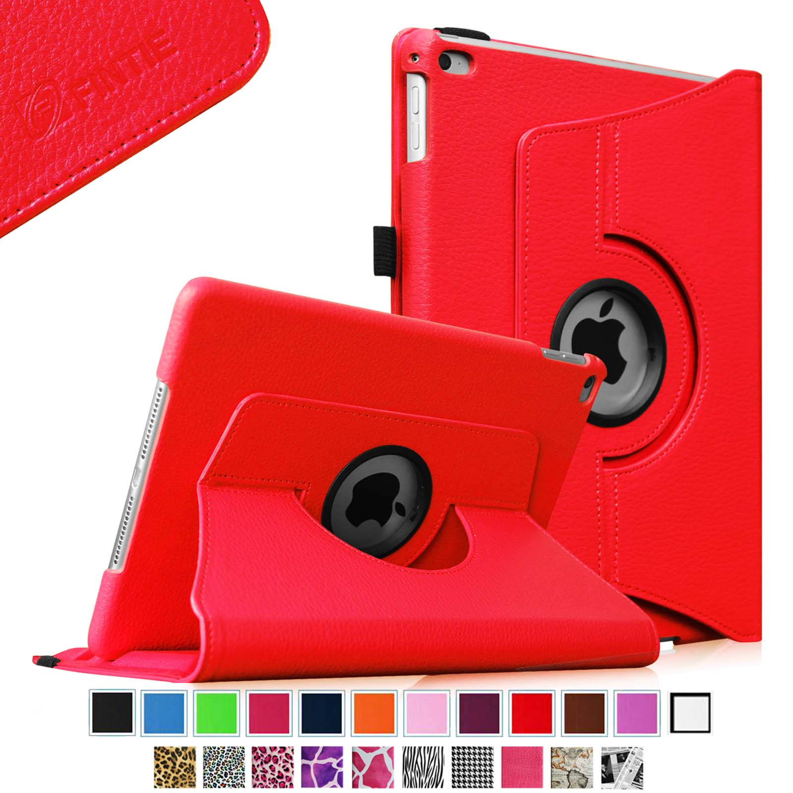 Fintie iPad Air 2 Multiple Angles Stand Case Cover with Auto Sleep / Wake Feature, Red