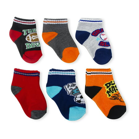 Newborn Baby Boys' Shorty Football Assorted Socks