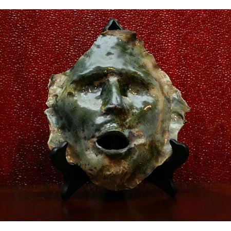 Canvas Print Artisan Face Artwork Sculpture Pottery Mask Craft Stretched Canvas 10 x 14