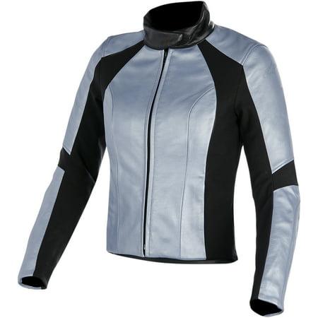 Alpinestars Stella Vika Leather Jacket Blue 44 8 Frozen Blue Metallic