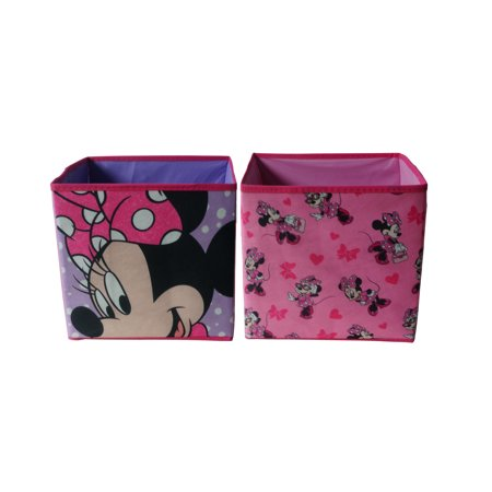 - Disney Minnie 2 Pack Collapsible Storage Cube, 10 x 10