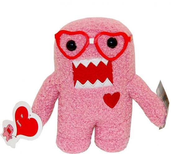 Valentine's Day Nerd Domo Plush Figure [Heart Glasses]