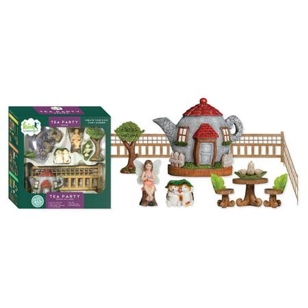 Arcadia Garden 11 Piece Tea Party Fairy Garden Kit (Garden Fairy Party)