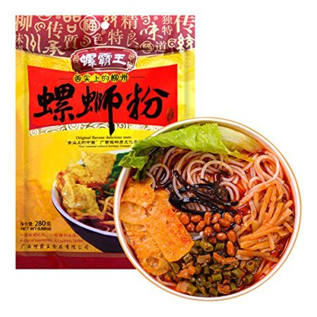GuangXi LiuZhou SPECIALTY Snail Rice Noodle Instant Vermicelli (Luo Ba Wang (???) 1 Bag) + One NineChef Spoon